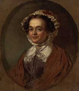 Mary Russell Mitford (copy after an original of 1824 by Benjamin Robert Haydon)
