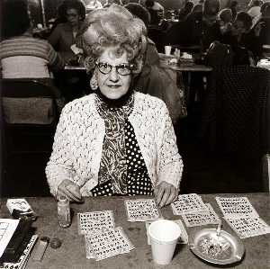Bingo Player, Saint Casimer's Church Hall, from the East Baltimore Documentary Survey Project