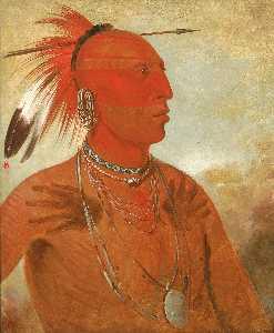 La wáh he coots la sháw no, Brave Chief, a Skidi (Wolf) Pawnee