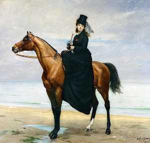 Equestrian Portrait of Mademoiselle Croizette