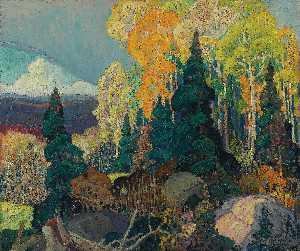 English Autumn Hillside