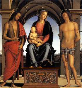 The Madonna between St John the Baptist and St Sebastian