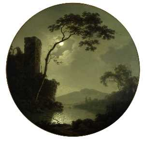 Lake with Castle on a Hill