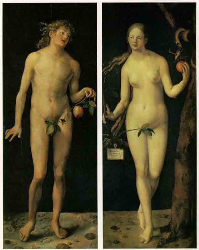 Wikioo.org - The Encyclopedia of Fine Arts - Painting, Artwork by Albrecht Durer - Adam And Eve