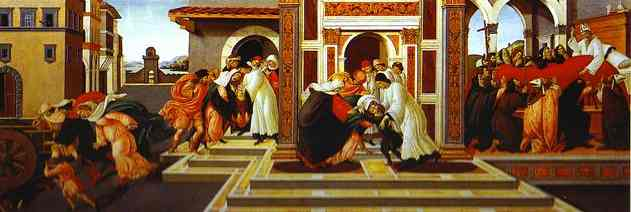 Wikioo.org - The Encyclopedia of Fine Arts - Painting, Artwork by Sandro Botticelli - Last Miracle and the Death of St. Zenobius