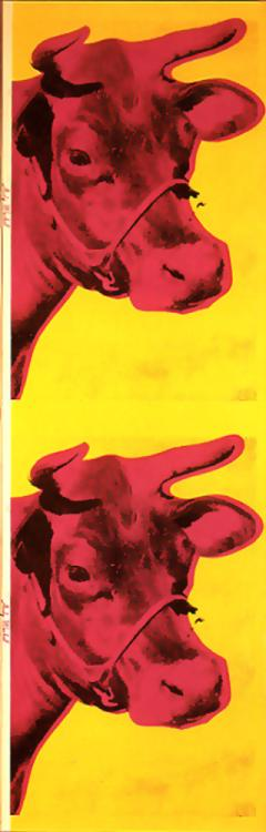 Wikioo.org - The Encyclopedia of Fine Arts - Painting, Artwork by Andy Warhol - Cow Wallpaper