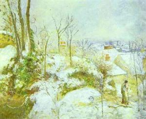 Cottage at Pontoise in the Snow