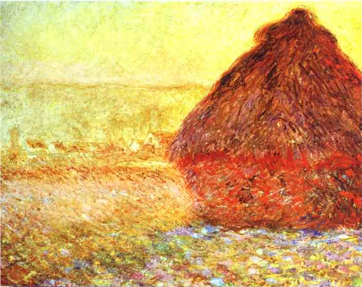 Wikioo.org - The Encyclopedia of Fine Arts - Painting, Artwork by Claude Monet - Haystack at the Sunset near Giverny