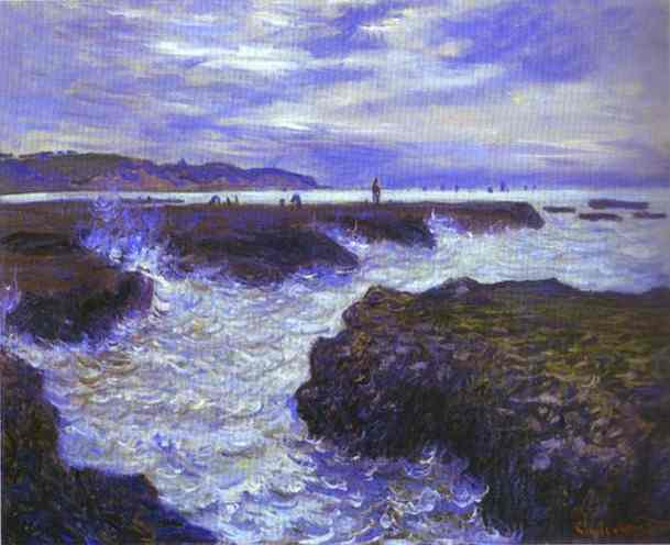 Wikioo.org - The Encyclopedia of Fine Arts - Painting, Artwork by Claude Monet - The Rocks near Pourville at Ebb Tide