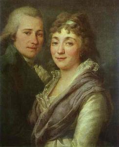 Portrait of V. I. Mitrofanov and M. A. Mitrofanova