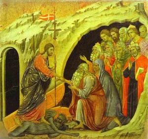 maesto ( schiena , pannello centrale ) , cristo in limbo