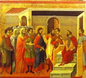 maesto dorso  CENTRALE  pannello di  gesù  prima  Re  Erode