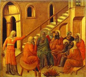 maesto ( schiena , pannello centrale ) , Cattedrale di st . Pietro prima negare Gesù
