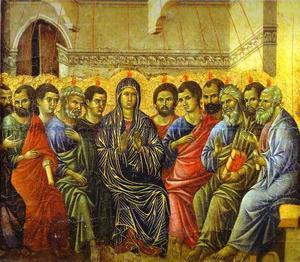maesto ( schiena , pannello incoronazione ) , la discesa dello spirito santo