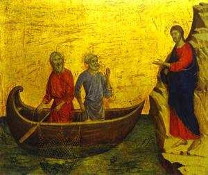 maesto ( schiena , predella ) , la chiamata di st . Peter e Cattedrale di st . Andrea
