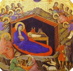 maesto ( frontale , predella ) , la nascita di cristo