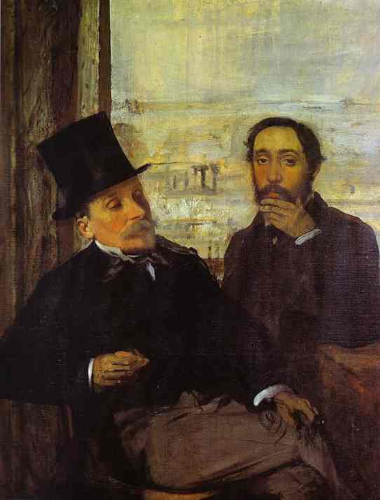 Wikioo.org - The Encyclopedia of Fine Arts - Painting, Artwork by Edgar Degas - Degas and Evariste de Valernes, Painter and a Friend of the Artis