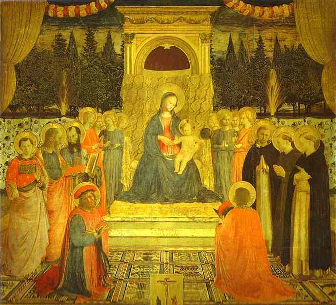 Wikioo.org - The Encyclopedia of Fine Arts - Painting, Artwork by Fra Angelico - San Marco Altarpiece