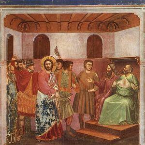 Scrovegni - [ 32 ] - cristo davanti a caifa