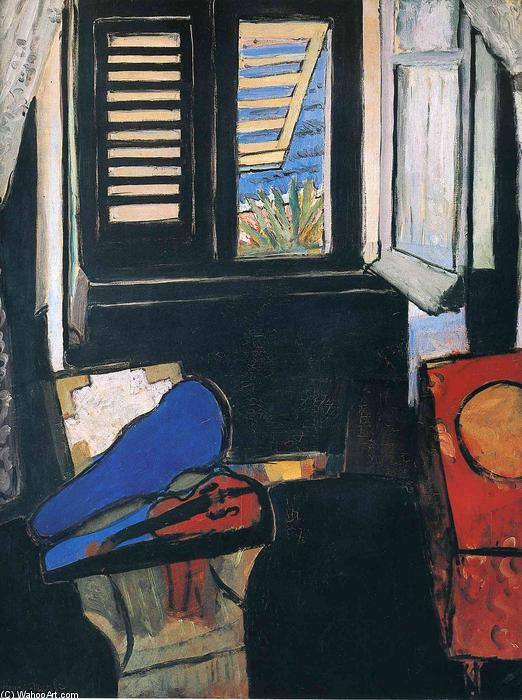 Wikioo.org - The Encyclopedia of Fine Arts - Painting, Artwork by Henri Matisse - Interior with a Violin