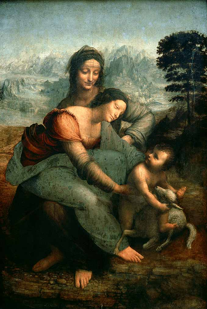 Wikioo.org - The Encyclopedia of Fine Arts - Painting, Artwork by Leonardo Da Vinci - The Virgin and Child with Saint Anne