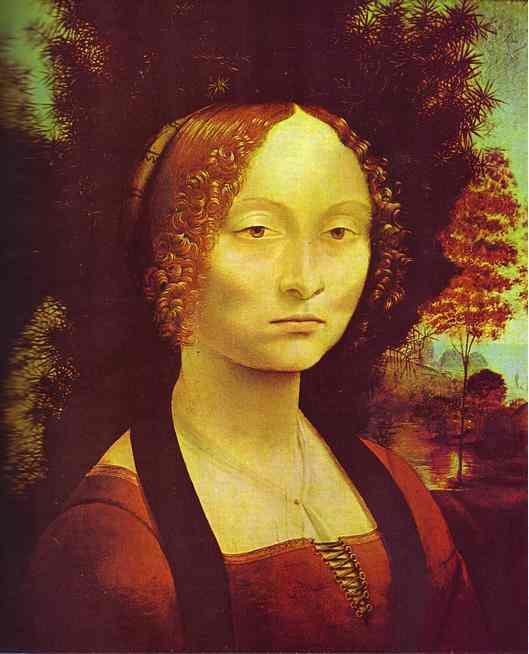 WikiOO.org - Enciclopédia das Belas Artes - Pintura, Arte por Leonardo Da Vinci - Portrait of Ginevra de'Benci