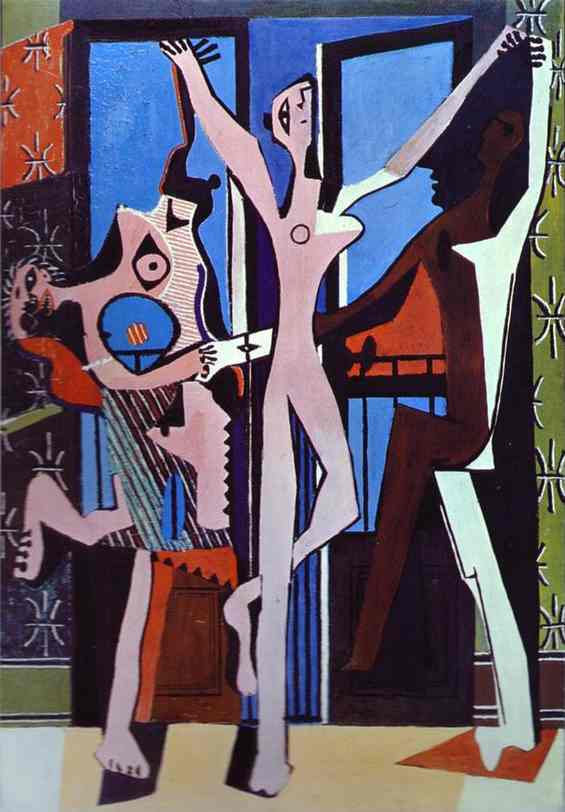 WikiOO.org - אנציקלופדיה לאמנויות יפות - ציור, יצירות אמנות Pablo Picasso - Three Dancers