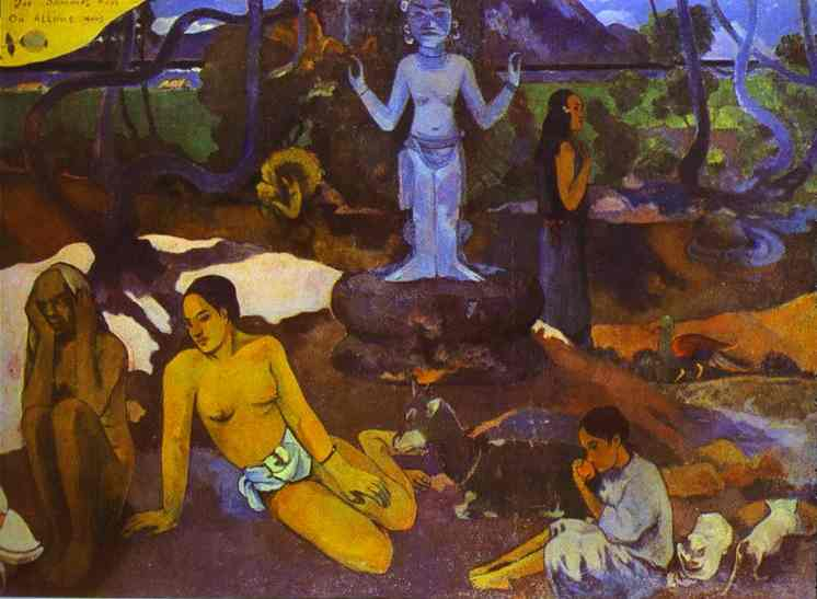 Wikioo.org - The Encyclopedia of Fine Arts - Painting, Artwork by Paul Gauguin - D'où venons nous Que sommes-nous Où allons-nous (Where Do We come from. What Are We. where Are We Going)