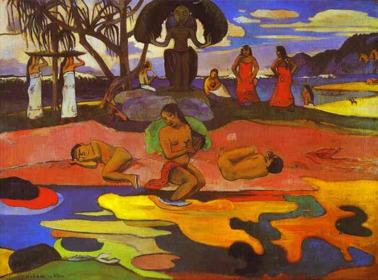 Wikioo.org - The Encyclopedia of Fine Arts - Painting, Artwork by Paul Gauguin - Mahana no atua (Day of God)