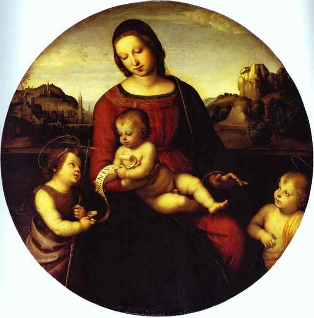 WikiOO.org - Encyclopedia of Fine Arts - Maleri, Artwork Raphael (Raffaello Sanzio Da Urbino) - Terranuova Madonna