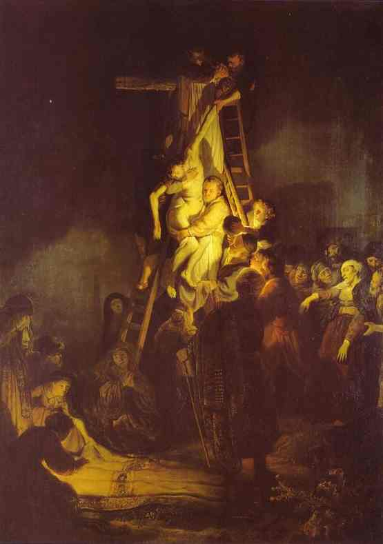 Wikioo.org - The Encyclopedia of Fine Arts - Painting, Artwork by Rembrandt Van Rijn - Descent From the Cross