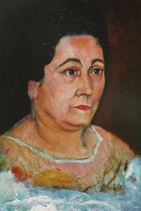Portrait of the Artist's Mother, Dofia Felipa Dome Domenech De, DalH, 1920