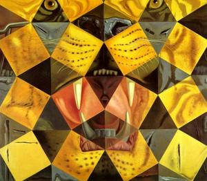Fifty Abstract Paintings Which as Seen from Two Yards Change into Three Lenins Masquerading as Chinese and as Seen from Six Yards Appear as the Head of a Royal Bengal Tiger, 1963