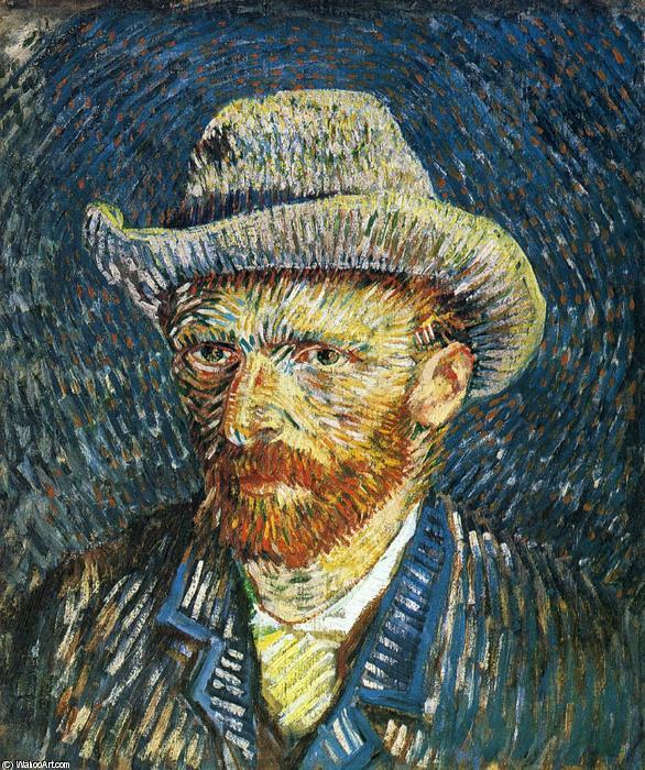 Wikioo.org - สารานุกรมวิจิตรศิลป์ - จิตรกรรม Vincent Van Gogh - Self Portrait with Felt Hat
