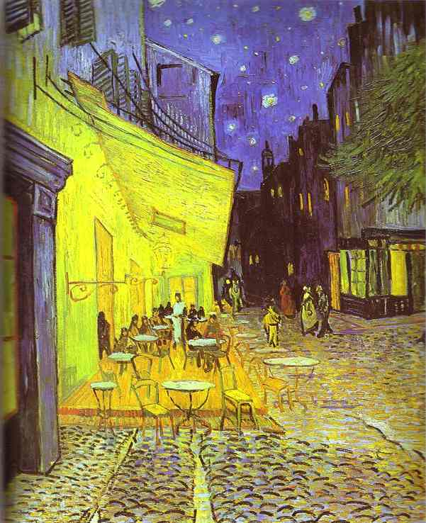 WikiOO.org - Encyclopedia of Fine Arts - Schilderen, Artwork Vincent Van Gogh - Café Terrace at Night