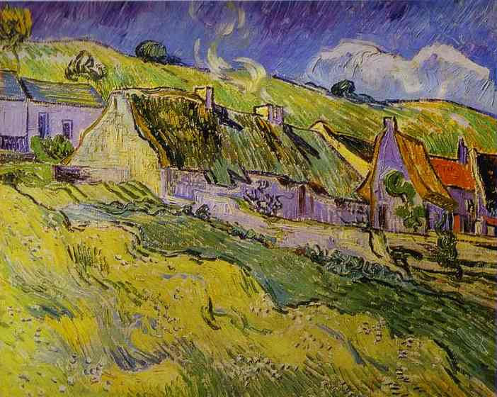 Wikioo.org - The Encyclopedia of Fine Arts - Painting, Artwork by Vincent Van Gogh - Cottages
