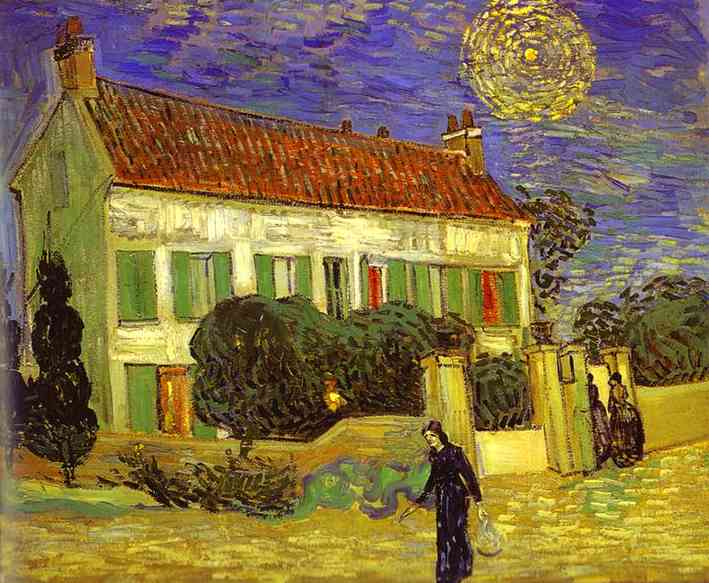 Wikioo.org - The Encyclopedia of Fine Arts - Painting, Artwork by Vincent Van Gogh - The White House at Night (La maison blanche au nuit)