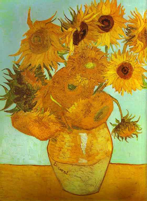 Wikioo.org - The Encyclopedia of Fine Arts - Painting, Artwork by Vincent Van Gogh - Twelve Sunflowers in a Vase