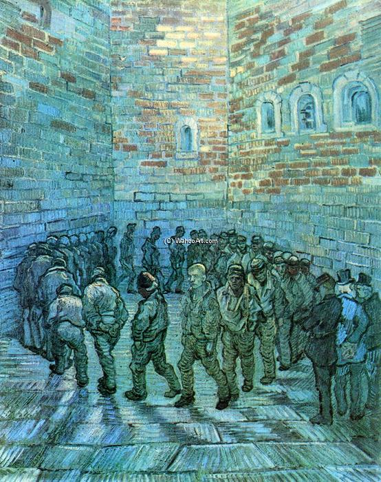 Wikioo.org - The Encyclopedia of Fine Arts - Painting, Artwork by Vincent Van Gogh - Prisoners Exercising (after Dore)