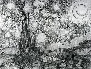 Starry Night (Drawing)