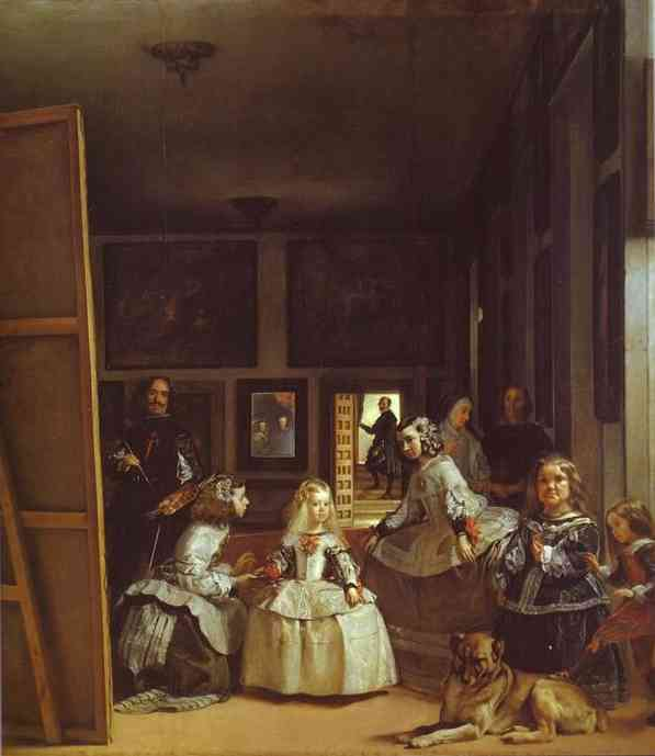 Wikioo.org - The Encyclopedia of Fine Arts - Painting, Artwork by Diego Velazquez - Las Meninas (The Maids of Honor) or the Royal Family