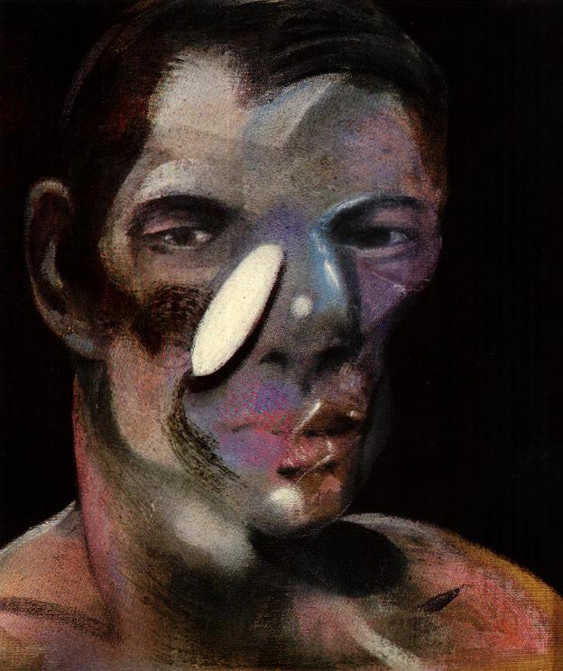 Wikioo.org - The Encyclopedia of Fine Arts - Painting, Artwork by Francis Bacon - three studies for a portrait of peter board, 1975 ii left