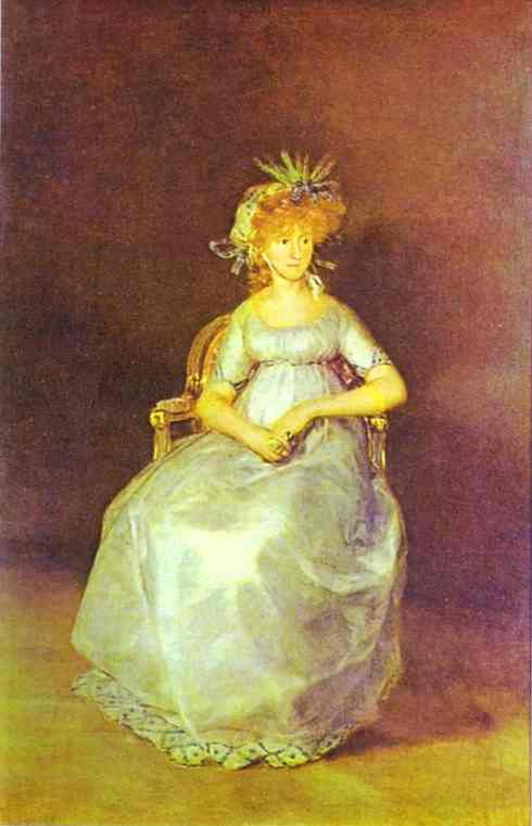 Wikioo.org - The Encyclopedia of Fine Arts - Painting, Artwork by Francisco De Goya - Portrait of the Countess of Chinch n