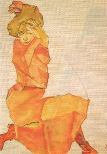 Young girl in orange