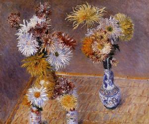 Four Vases of Chrysanthemums