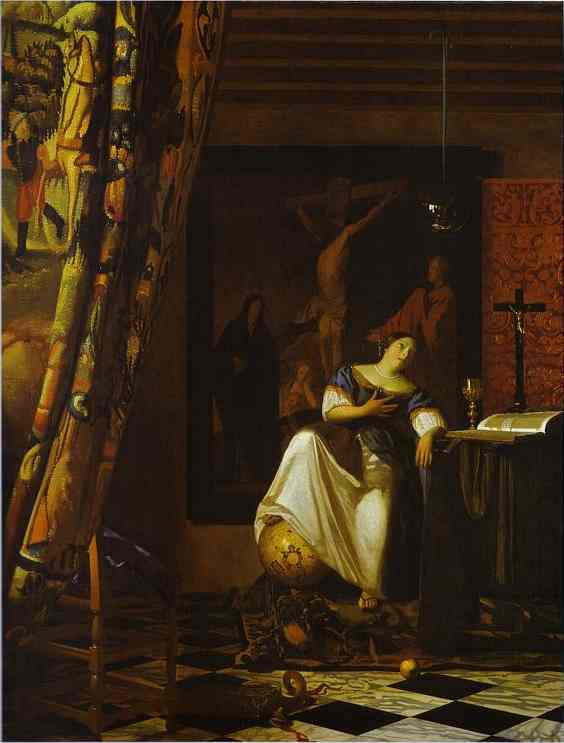 Wikioo.org - The Encyclopedia of Fine Arts - Painting, Artwork by Jan Vermeer - Allegory of Faith