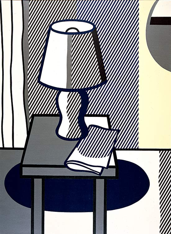 Wikioo.org - The Encyclopedia of Fine Arts - Painting, Artwork by Roy Lichtenstein - Still Life with Table Lamp