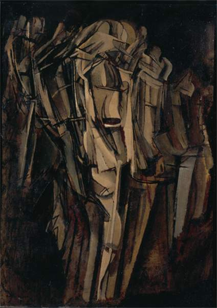 Wikioo.org - The Encyclopedia of Fine Arts - Painting, Artwork by Marcel Duchamp - Sad young man in a train