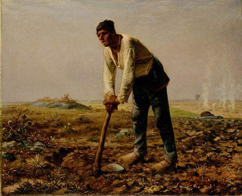 Wikioo.org - The Encyclopedia of Fine Arts - Painting, Artwork by Jean-François Millet - Man With A Hoe