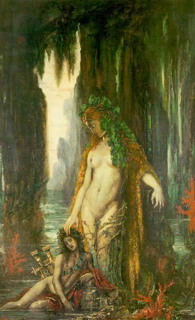 Wikioo.org - The Encyclopedia of Fine Arts - Painting, Artwork by Gustave Moreau - The Poet and the Siren